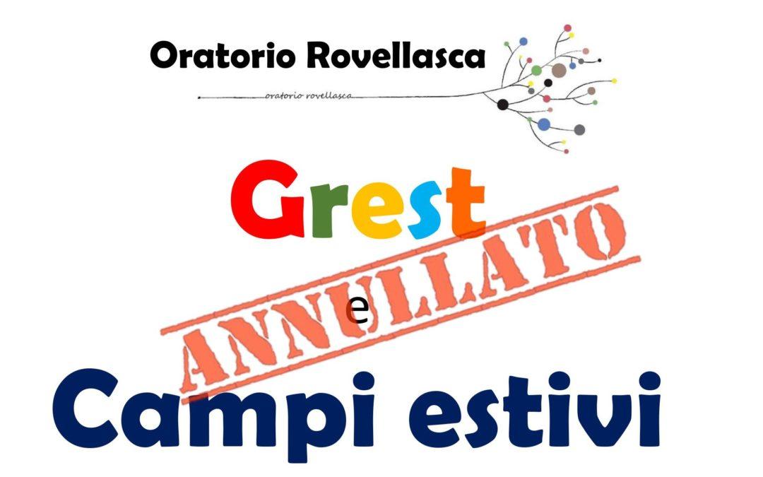 ANNULLAMENTO ATTIVITA' ESTIVE 2020